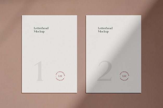 Letterhead mockup with shadow