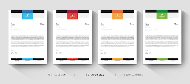 Letterhead professional clean and modern design template