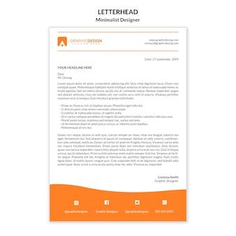 Letterhead template minimalist design
