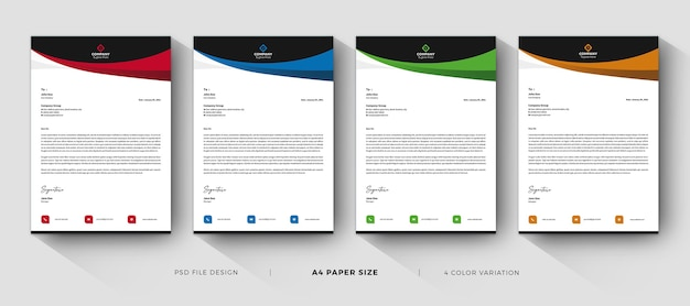 Letterhead templates modern and professional