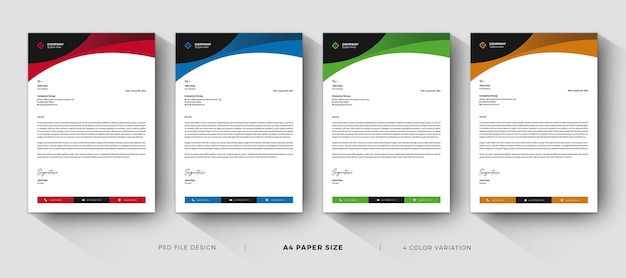 Letterhead templates professional and modern design