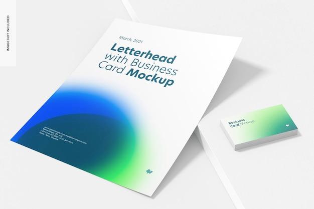 명함 모형, 원근감이있는 편지지