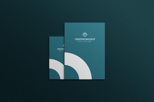 Letterhead with business card mockup premium psd