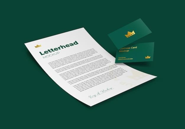Фирменный бланк с макетом визитной карточки
