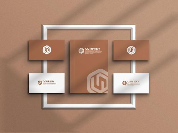 Бланк с визитной карточкой макет канцелярских товаров