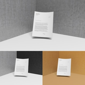 Letterhead with different backgrounds mock up