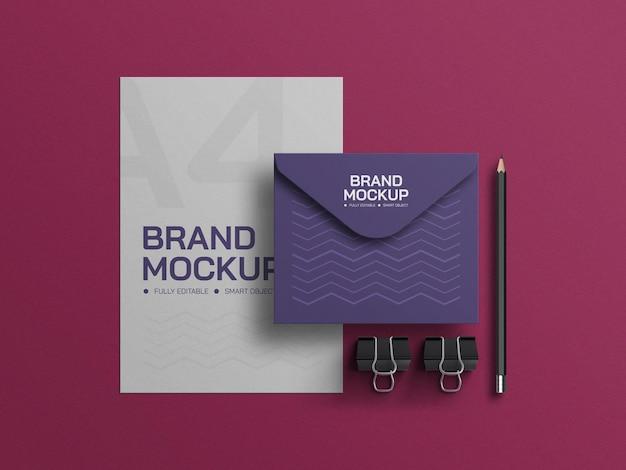 Бланк с макетом конверта