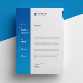 Letterhead with gradient accent