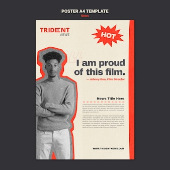 活版印刷のポスターデザインテンプレート
