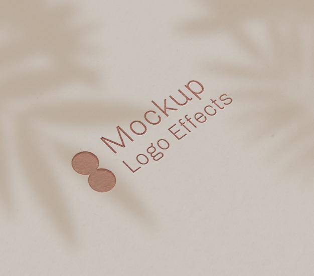 Letterpress logo effect mockup
