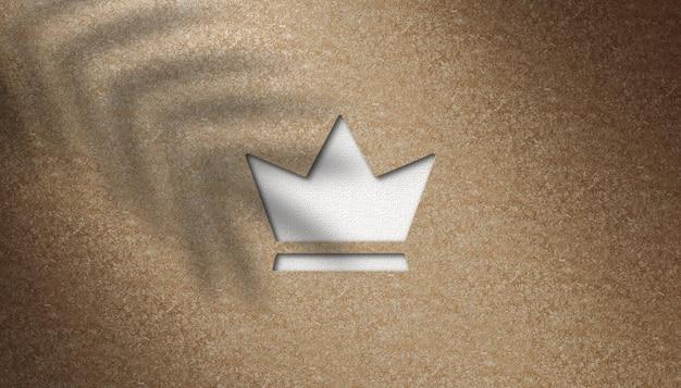 Высококачественный макет логотипа дсп фон