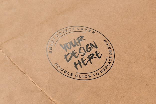 Letterpress on paper mockup