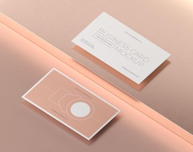 Макет парящей металлической медной визитки