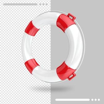 Спасательный круг 3d-рендеринга изолированные