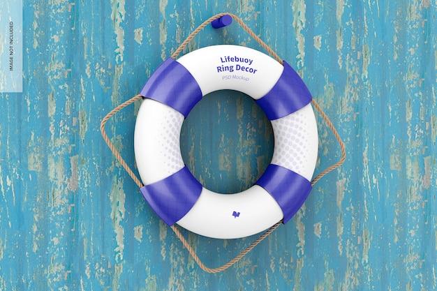 Lifebuoy 링 장식 모형, 교수형 프리미엄 PSD 파일