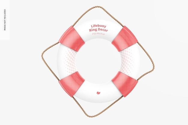 Мокап декора кольца спасательного круга