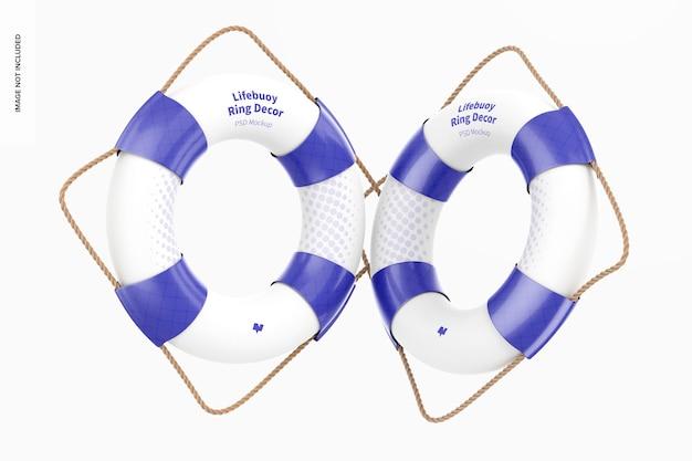救命浮環リング装飾モックアップ、フローティング