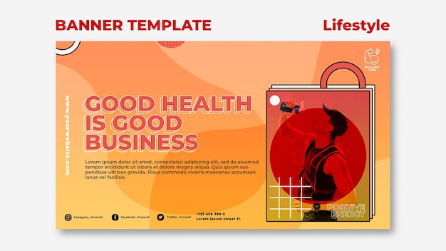Lifestyle banner template