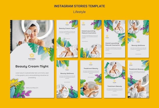 Storie di instagram di concetto di stile di vita