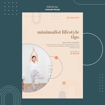 Design del poster concetto di stile di vita