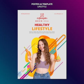 Lifestyle design of poster template