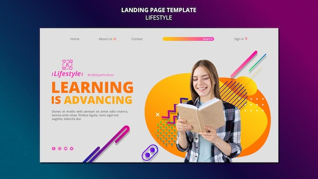 Lifestyle landing page design template