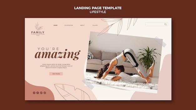 Lifestyle landing page