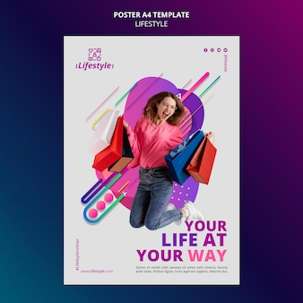 Lifestyle poster design template