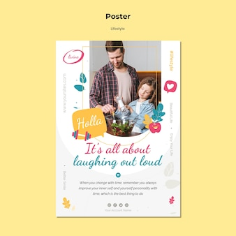 Lifestyle poster template