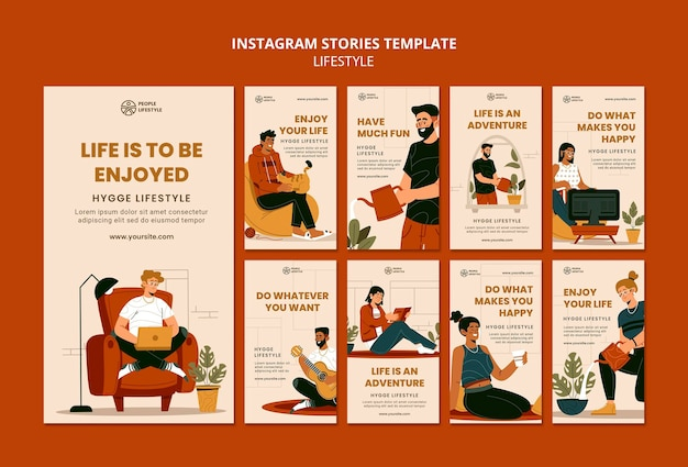 Lifestyle social media stories
