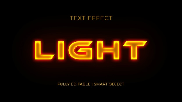 Light 3d text effect