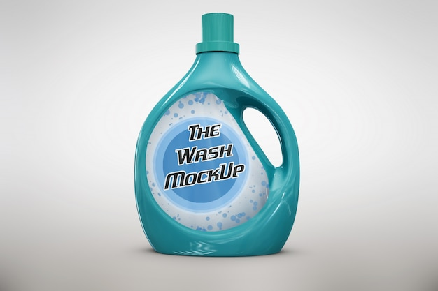 Light blue detergent packaging mock up