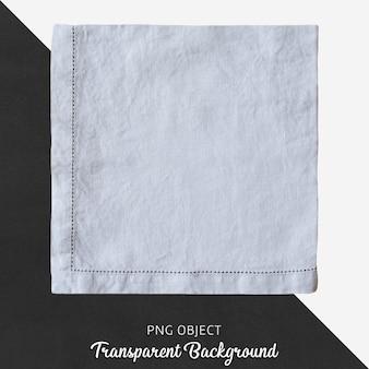 Light blue linen handkerchief on transparent background