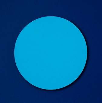 Light blue mock-up circle on dark blue background