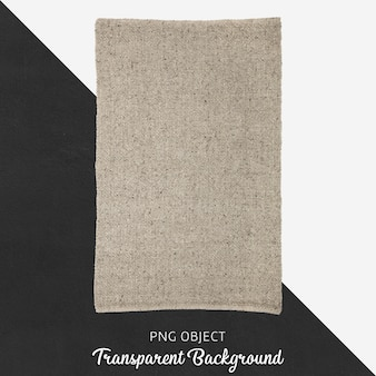 Light brown textile on transparent background