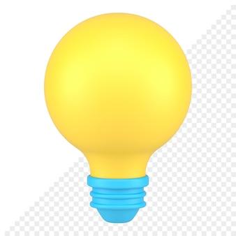Light bulb 3d icon