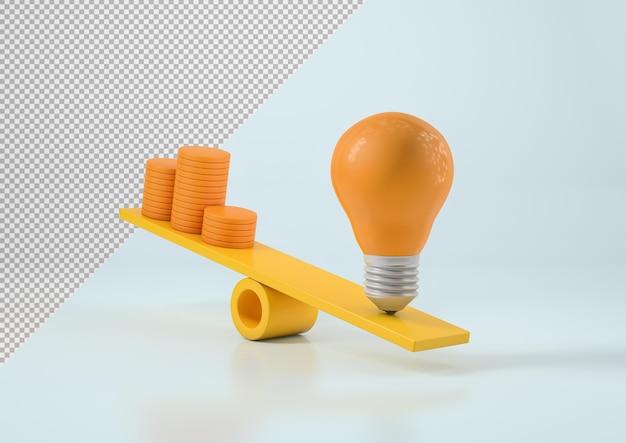 Лампочка и куча денег на масштабном макете
