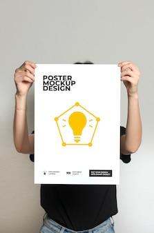 Light bulb poster mockup