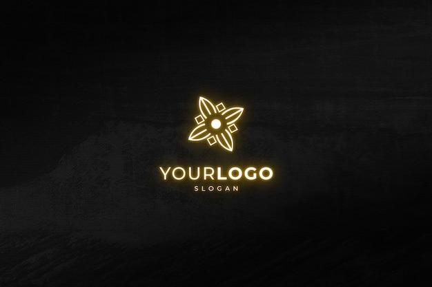 Light effect logo mockup