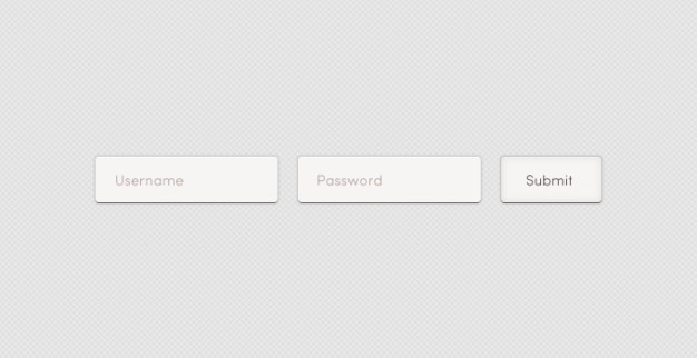 Light login form login form psd