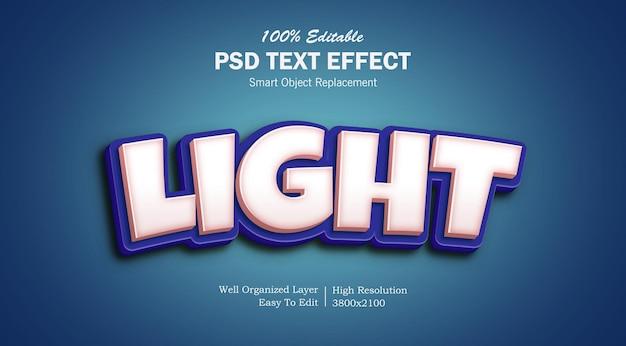 Текстовый эффект light popup psd
