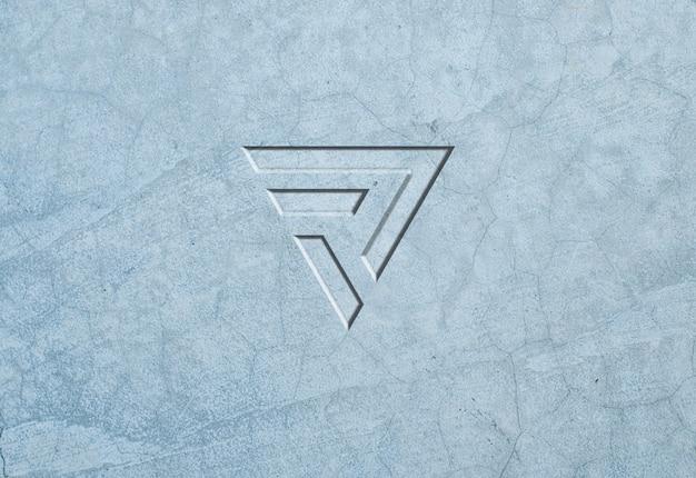 Light stone texture logo mockup