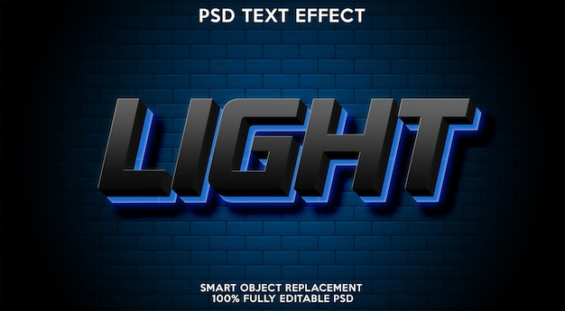 Light text effect template