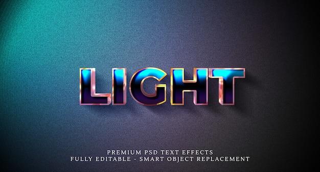 Light text style effect psd
