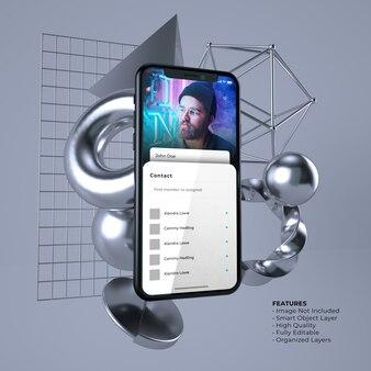 가벼운 사용자 인터페이스 스마트 폰 모형