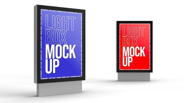 Lightbox mockup design isolated