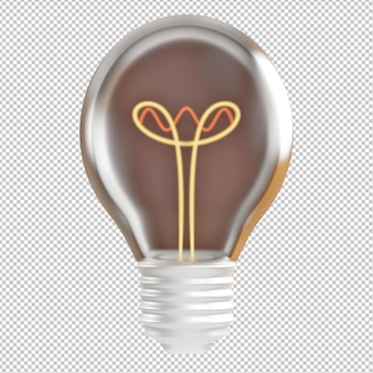 3dイラストの電球