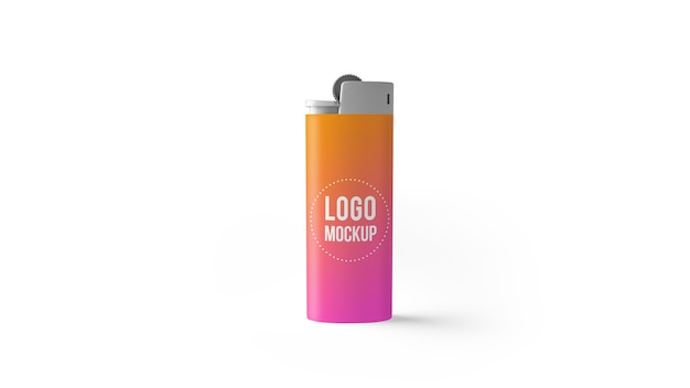 Lighter mockup isolated