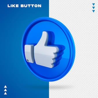 Like button Premium Psd