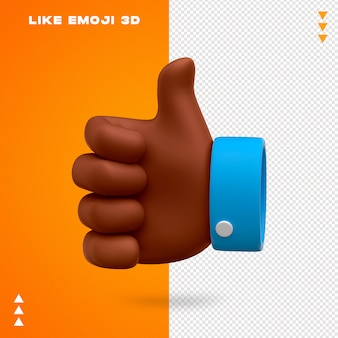 Like emoji 3d design